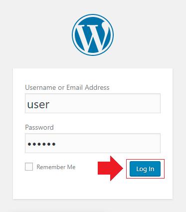 login to wordpress from dashboard