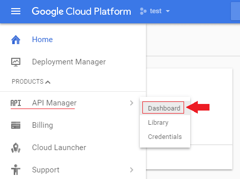 login to google cloud platform and go to your api manager dashboard transfer wordpress domain google cloud platform