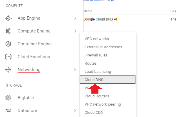 click on the hamburger menu in the upper-left hand corner of the screen an navigate to networking then cloud dns transfer wordpress domain name to google cloud hosting