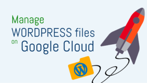 manage wordpress files on google cloud