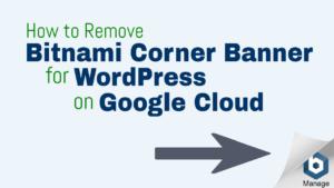 remove bitnami corner banner