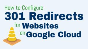 301 redirect google cloud platform