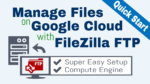 google cloud ftp setup filezilla