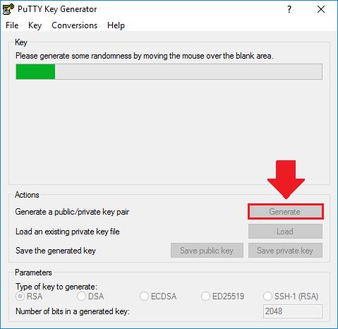 google cloud ftp setup generate putty key files ssh
