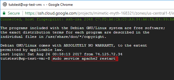 ssh linux permission errors google cloud