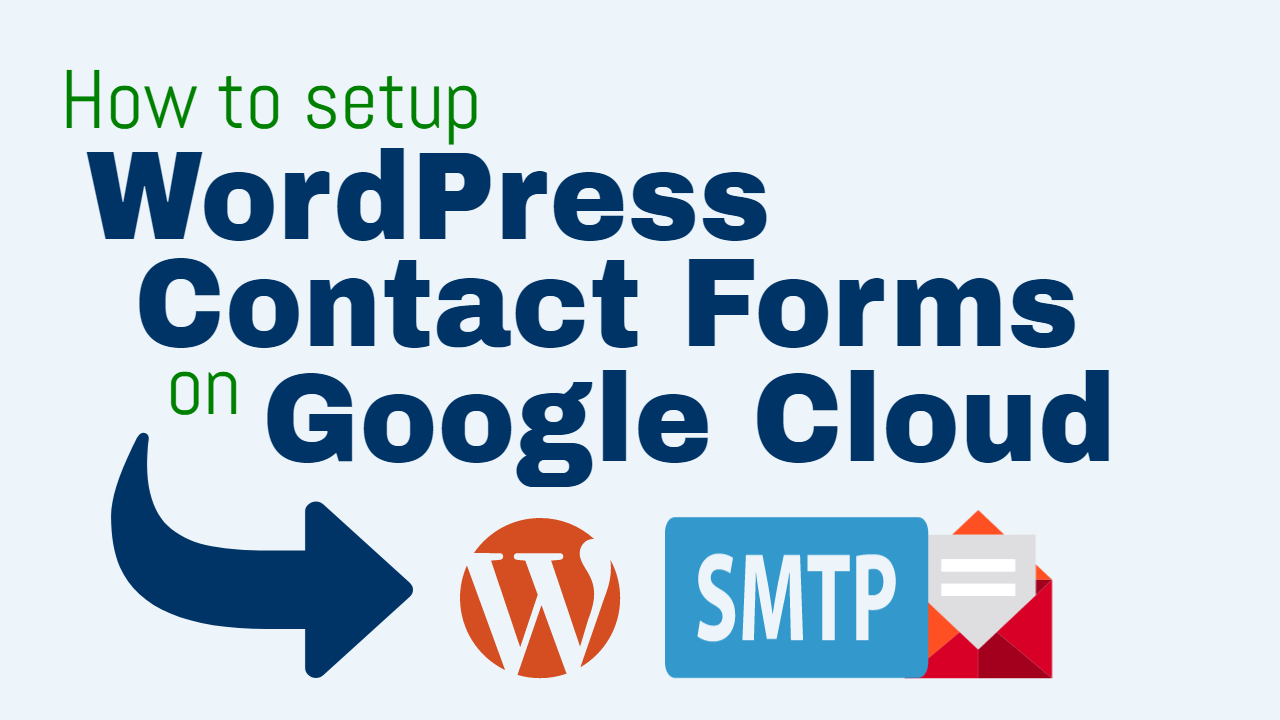 configure contact forms for wordpress on google cloud