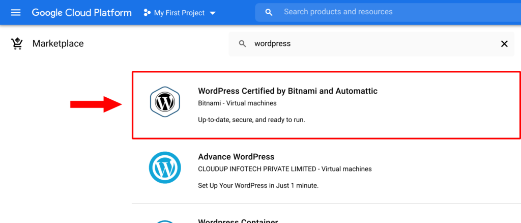 deploy wordpress certified by bitnami and automattic