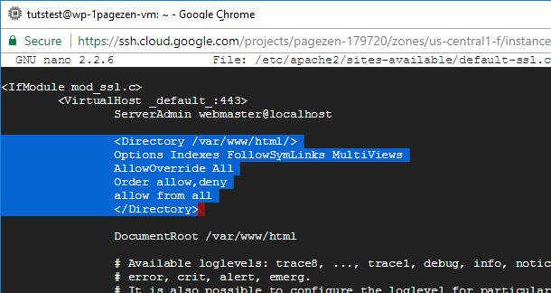 ssl certificate setup wordpress google cloud platform compute engine click-to-deploy
