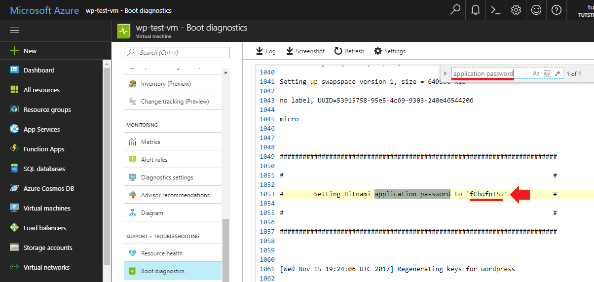 how to install wordpress on azure retrieve login credentials