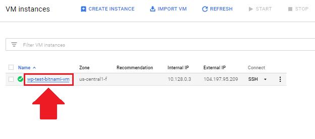 access phpmyadmin ssh tunnel click on vm instance