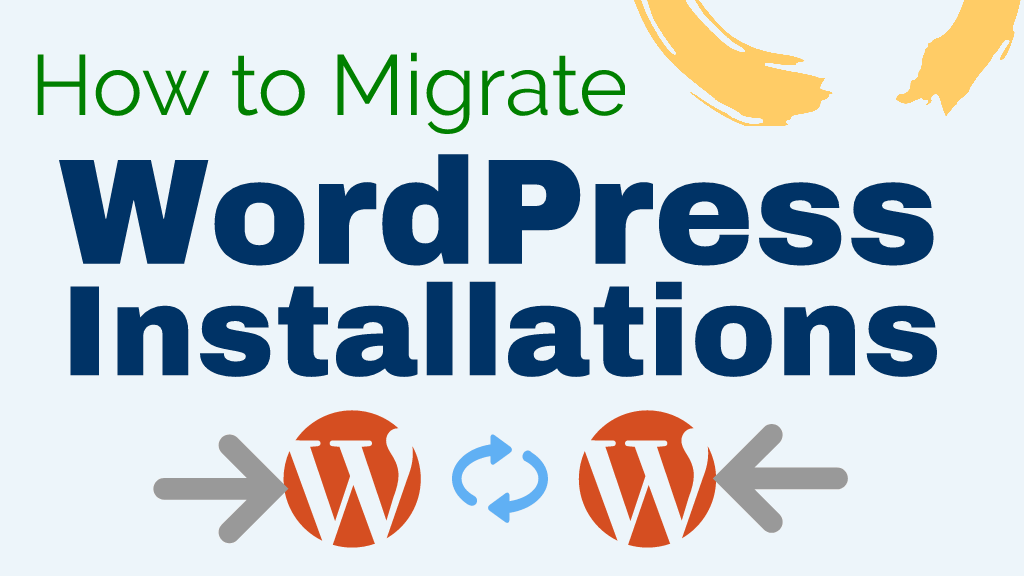 migrate wordpress installations