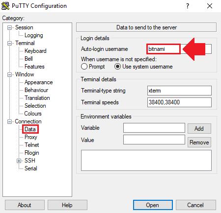remove bitnami banner wordpress aws