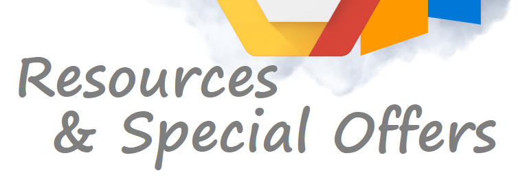 resources and special offers banner