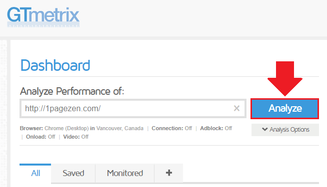 visit gtmetrix.com in your web browser