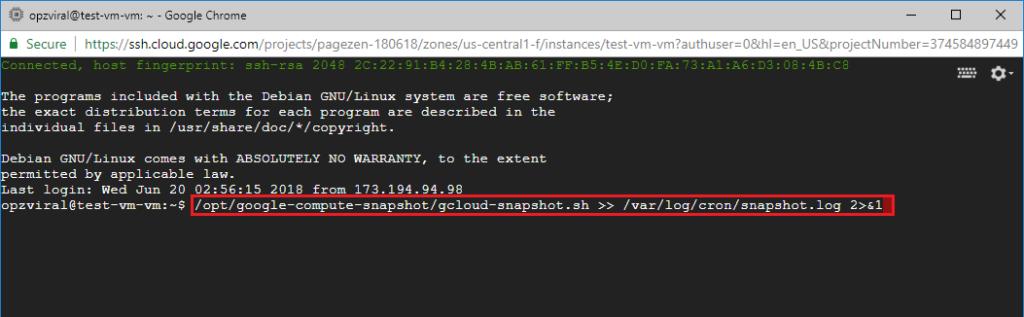 automatic backups google cloud