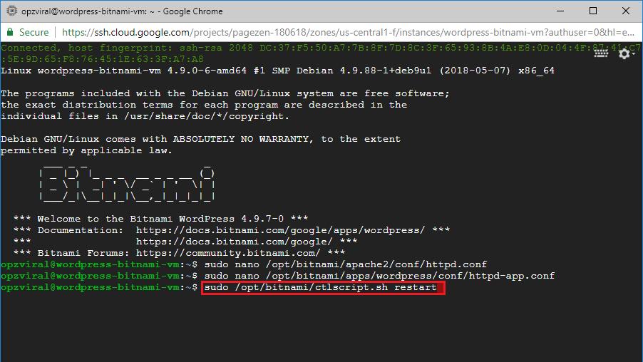 add expires headers wordpress on google cloud bitnami