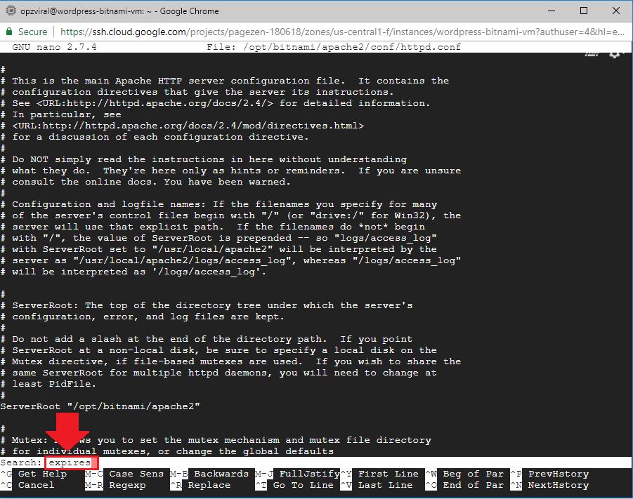 add expires headers wordpress google cloud bitnami