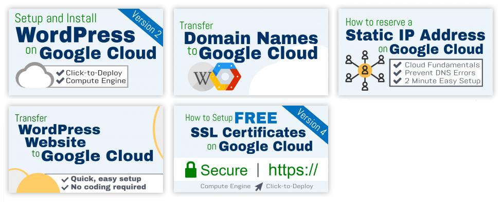 list of google cloud tutorials