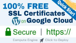 setup free ssl for wordpress on google cloud click-to-deploy