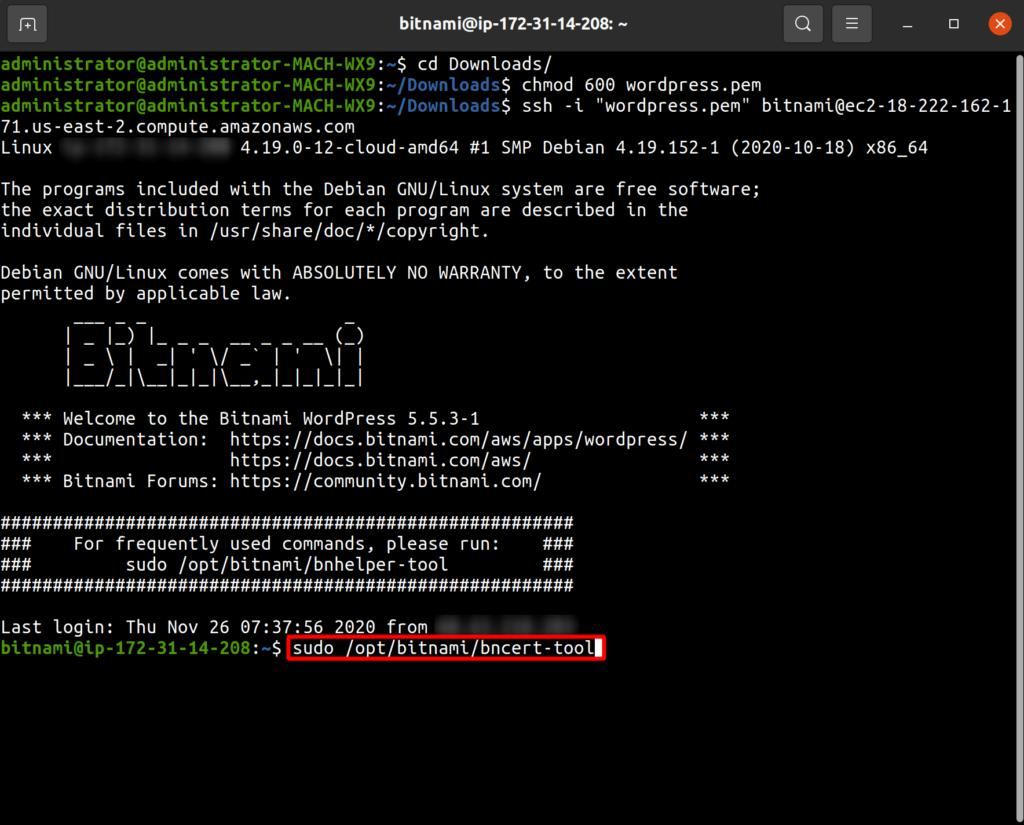 execute the SSL script