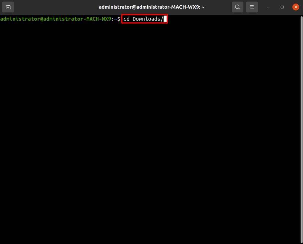 open ssh terminal and navigate to downloads directory